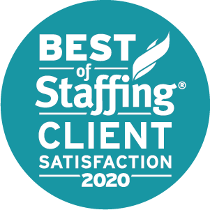 Best of Staffing: Client Satisfaction 2020 badge