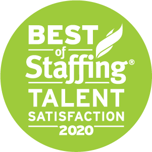 Best of Staffing: Talent Satisfaction 2020 badge